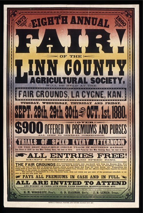 Eighth annual fair of the Linn County Agricultural Society, La Cygne, Kansas - Page
