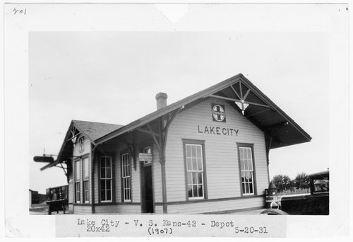 Atchison, Topeka and Santa Fe Railway Company depot, Lake City, Kansas - Page