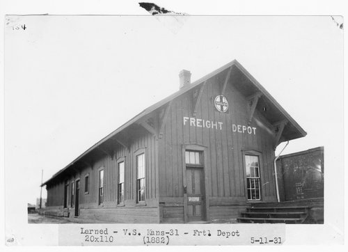 Atchison, Topeka and Santa Fe Railway Company's freight depot, Larned, Kansas - Page