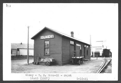 Atchison, Topeka & Santa Fe Railway Company depot, Olney, Kansas - Page