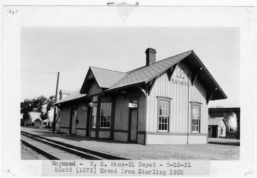 Atchison, Topeka & Santa Fe Railway Company depot, Raymond, Kansas - Page