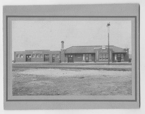 Atchison, Topeka & Santa Fe Railway Company depot, St. John, Kansas - Page