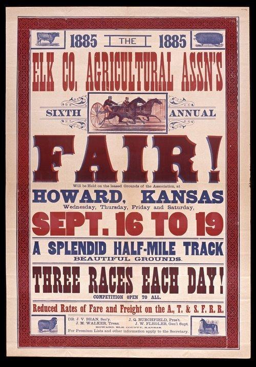 Elk County Agricultural Association's sixth annual fair, Howard, Kansas - Page