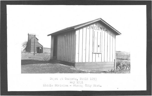 Atchison Topeka & Santa Fe Railway Company depot, Oneonta, Kansas - Page