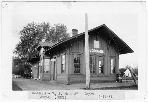 Atchison, Topeka & Santa Fe Railway Company depot, Goddard, Kansas - Page
