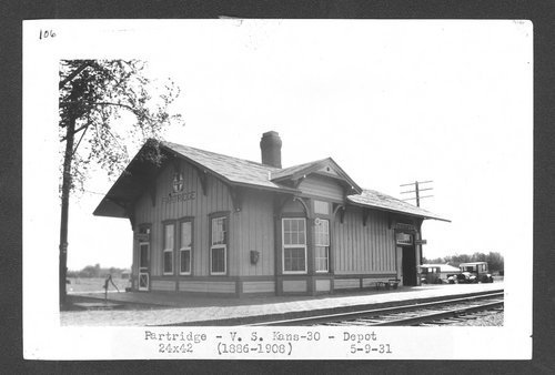 Atchison, Topeka & Santa Fe Railway Company depot, Partridge, Kansas - Page