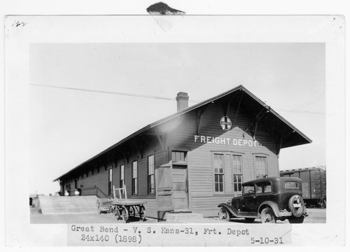 Atchison, Topeka & Santa Fe Railway Company freight house, Great Bend, Kansas - Page