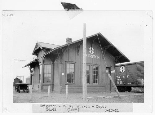 Atchison, Topeka & Santa Fe Railway Company depot, Grigston, Kansas - Page