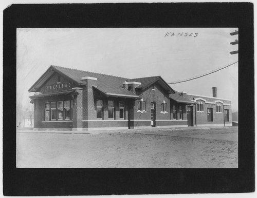 Atchison, Topeka and Santa Fe Railway Company depot, Halstead, Kansas - Page