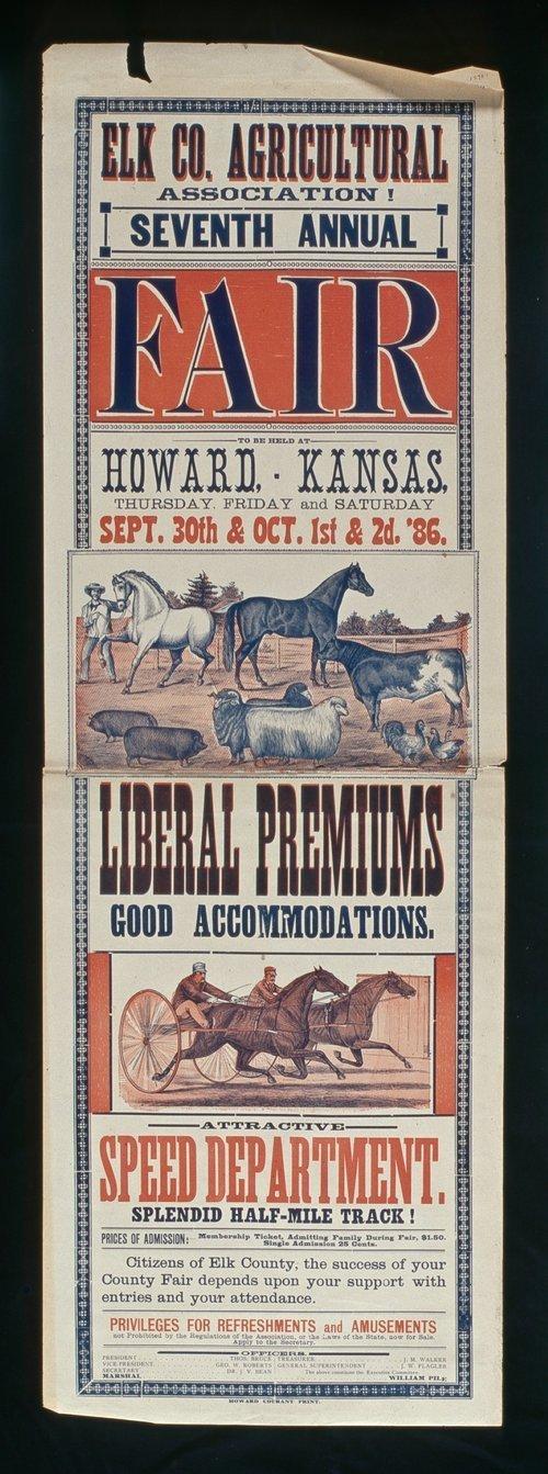 Elk County Agricultural Association seventh annual fair, Howard, Kansas - Page