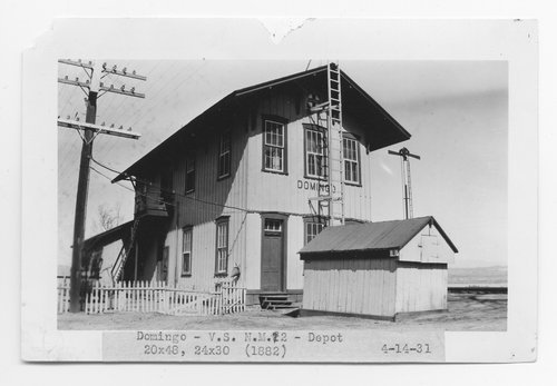Atchison, Topeka and Santa Fe Railway Company depot, Domingo, New Mexico - Page