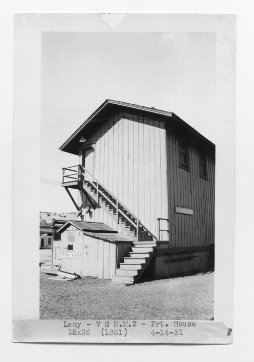 Atchison, Topeka & Santa Fe freight house, Lamy, New Mexico - Page