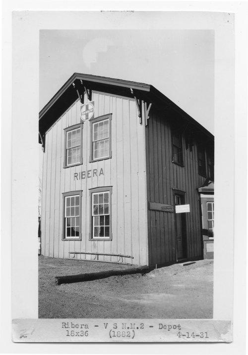 Atchison, Topeka & Santa Fe Railway Company depot, Ribera, New Mexico - Page