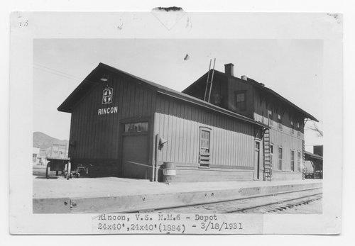 Atchison, Topeka & Santa Fe Railway Company depot, Rincon, New Mexico - Page