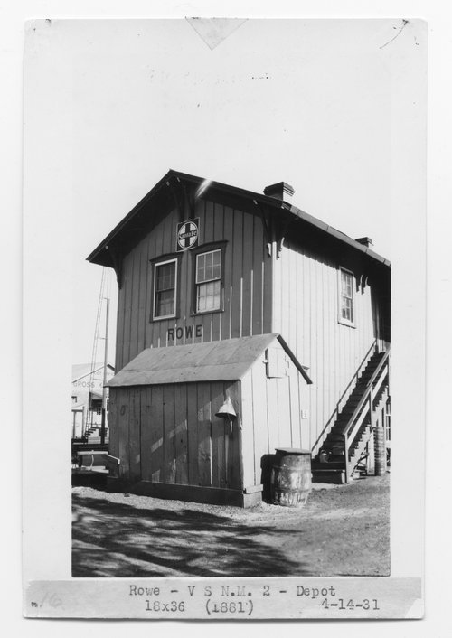 Atchison, Topeka & Santa Fe Railway Company depot, Rowe, New Mexico - Page