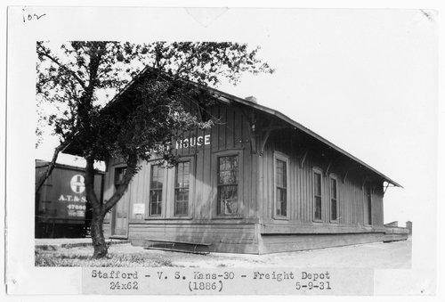 Atchison, Topeka & Santa Fe freight house, Stafford, Kansas - Page