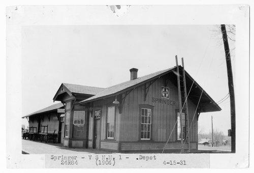 Atchison, Topeka & Santa Fe Railway Company depot, Springer, New Mexico - Page