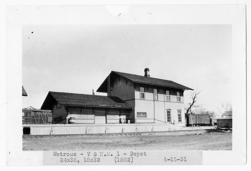 Atchison, Topeka & Santa Fe Railway Company depot, Watrous, New Mexico - Page