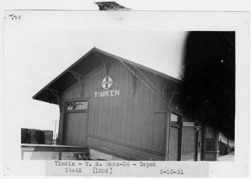 Atchison, Topeka & Santa Fe Railway Company depot, Timken, Kansas - Page