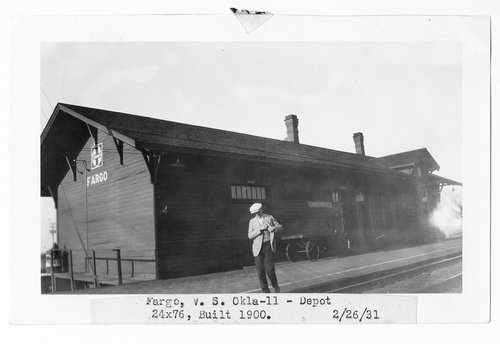 Atchison, Topeka & Santa Fe Railway Company depot, Fargo, Oklahoma - Page