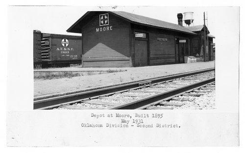 Atchison, Topeka & Santa Fe Railway Company depot, Moore, Oklahoma - Page