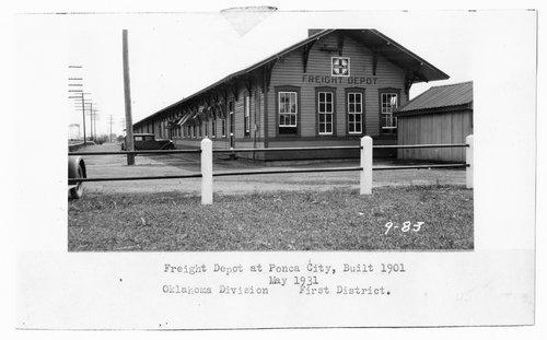 Atchison, Topeka & Santa Fe Railway Company's freight depot, Ponca City, Oklahoma - Page
