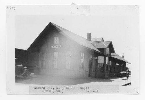 Atchison, Topeka & Santa Fe Railway Company depot, Wakita, Oklahoma - Page