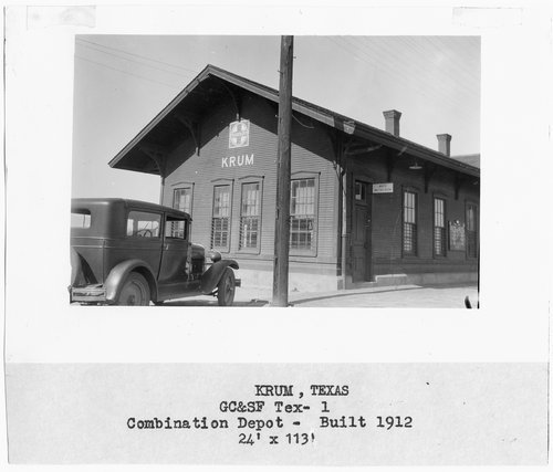Gulf Colorado & Santa Fe Railway Company depot, Krum, Texas - Page