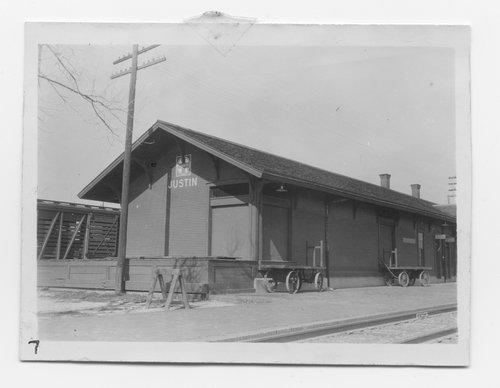 Gulf Colorado & Santa Fe Railway Company depot, Justin, Texas - Page