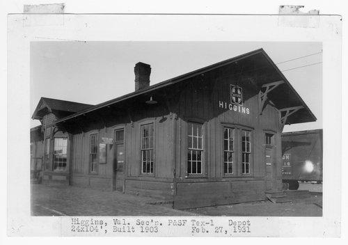 Panhandle & Santa Fe Railway Company depot, Higgins, Texas - Page