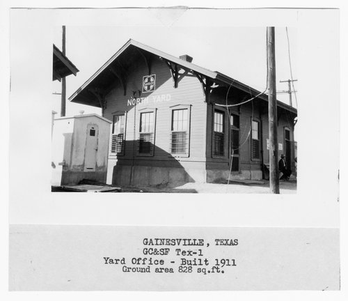 Gulf Colorado & Santa Fe Railway Company's yard office, North Yard, Gainesville, Texas - Page