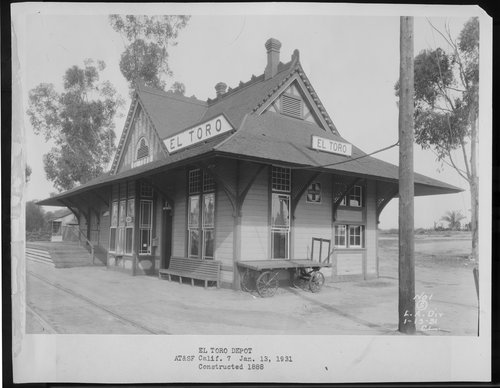 Atchison, Topeka & Santa Fe Railway Company depot, El Toro, California - Page