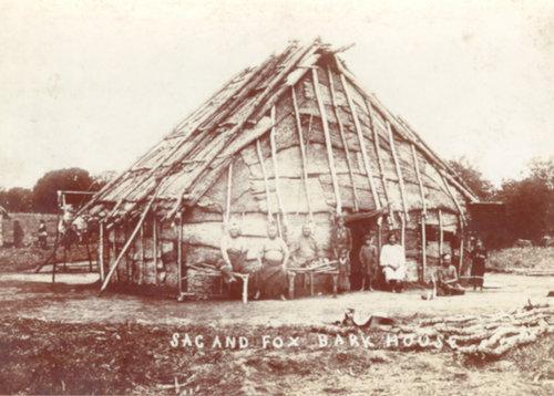 Bark covered Sac and Fox lodge house - Page