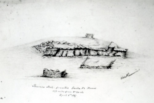 Sketch of Pawnee Rock in Barton County, Kansas - Page