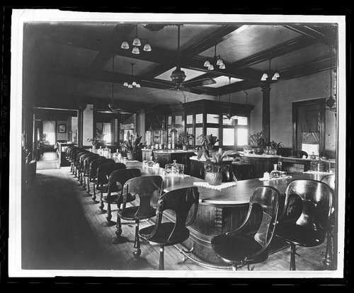 Atchison, Topeka & Santa Fe Railway Company's Fred Harvey House lunch counter, Topeka, Kansas - Page