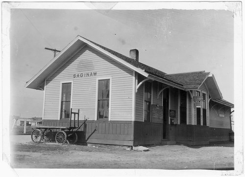 Gulf, Colorado & Santa Fe Railway depot, Saginaw, Texas - Page