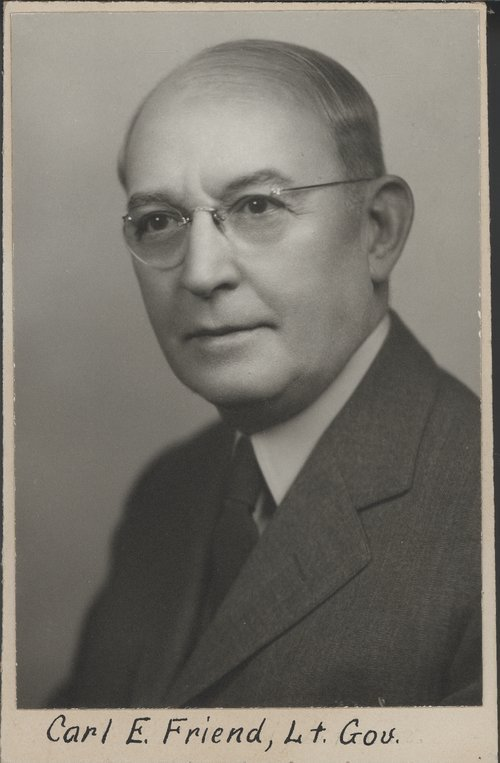 Carl E. Friend, Kansas Lieutenant Governor - Page