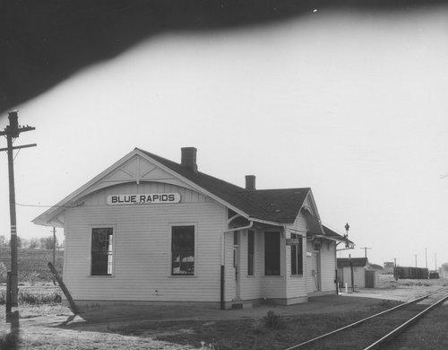 Union Pacific Railroad Company depot, Blue Rapids, Kansas - Page