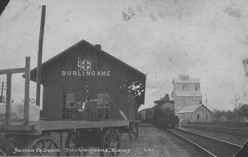 Atchison Topeka and Santa Fe Railway Company depot, Burlingame, Kansas - Page