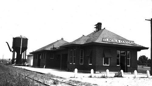 Atchison, Topeka & Santa Fe Railway Company depot, Lincoln Center, Kansas - Page
