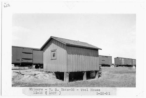 Atchison, Topeka & Santa Fe Railway Company tool house, Wilmore, Kansas - Page