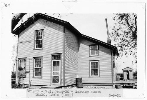 Atchison, Topeka & Santa Fe Railway Company section house, Wright, Kansas - Page