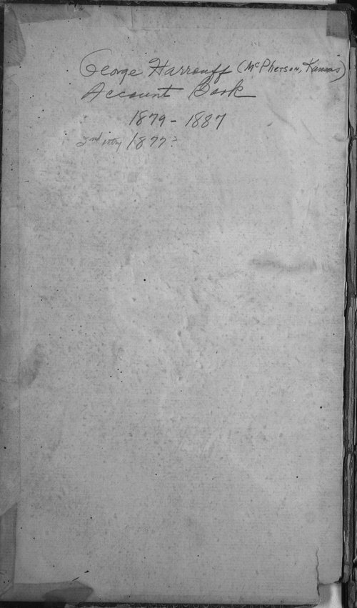 George Harrouff account book - Page