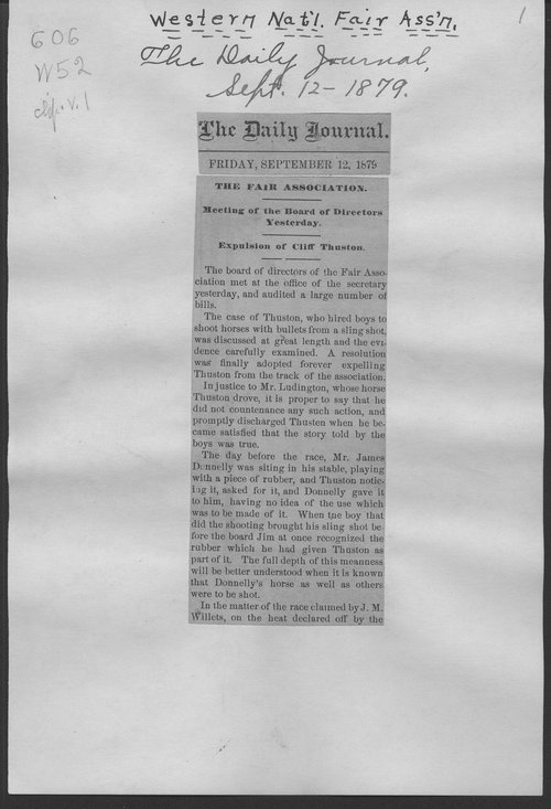 Western National Fair Association clippings - Page