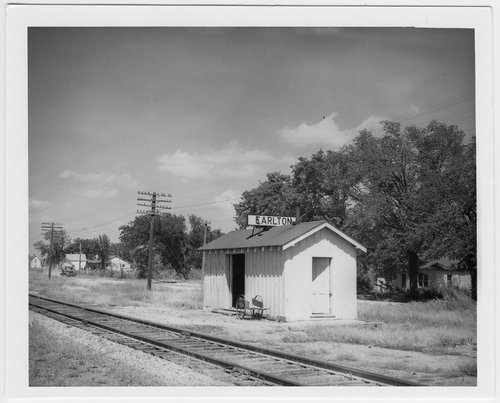 Atchison, Topeka and Santa Fe Railway Company depot, Earlton, Kansas - Page