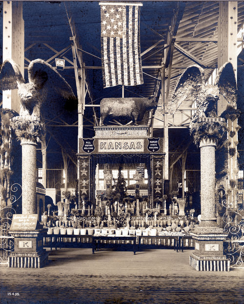 Kansas agricultural products on display at the St. Louis World's Fair - Page