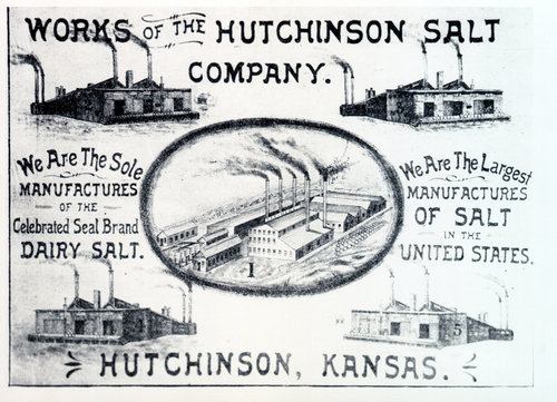 Image of advertisement for the Hutchinson Salt Company of Kansas,1892.