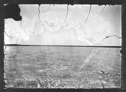Arkansas River from bridge, Garden City, Finney County, Kansas - Page