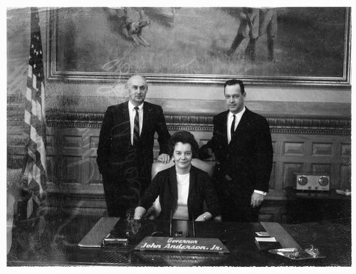 Richard Dean Rogers, Beth Stewart Rogers, and Governor John Anderson Jr. - Page
