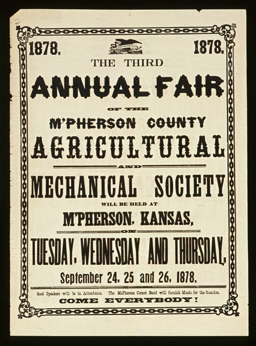 The third annual fair of the McPherson County Agricultural and Mechanical Society - Page